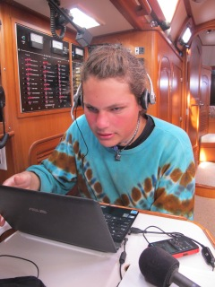 At the nav station